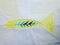 """""""After hearing just how much @elisabew, ahem, *dislikes* paper piecing, obviously I had to make the most intricate #folksyfish out of #konacoty highlight…"""" by @nohatsquilts"""