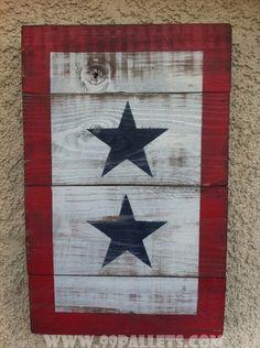 american flag diy decorations | 20 DIY Pallet Art Flag Ideas | 99 Pallets