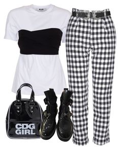 """cumulus clouds"" by chanelandcoke ❤ liked on Polyvore featuring MSGM, Topshop, Comme des Garçons and Balenciaga"