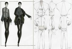 Fashion Sketchbook - fashion design drawings; developing a collection; fashion portfolio // Elana Kloss