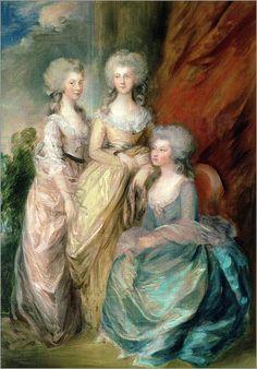 Thomas Gainsborough - Drei Töchter von George III.