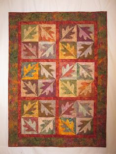 Julie's Quilts and Costumes: Turning Leaves quilt - with link to the pattern