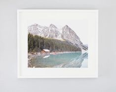 This quiet Lake Louise photo features a boathouse on the shore of the iconic turquoise water, nestled in the Canadian Rockies. Fine Art Photography, Landscape Photography, Nautical Prints, Boathouse, Canadian Rockies, Turquoise Water, Photo Location, Large Wall Art, Nature Pictures