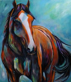 O Happy Day horse painting by CherDevereauxFineArt on Etsy