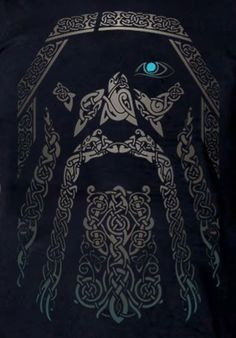 Odin - I want this as a big tattoo on my back.