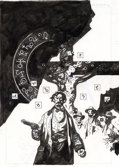 Witchfinder: Lost & Gone 1 cover, in Brent McDonald's Mike Mignola Comic Art Gallery Room Comic Book Artists, Comic Artist, Comic Books Art, Mike Mignola Art, Illustrations, Illustration Art, Darkest Dungeon, Comic Book Collection, Pulp