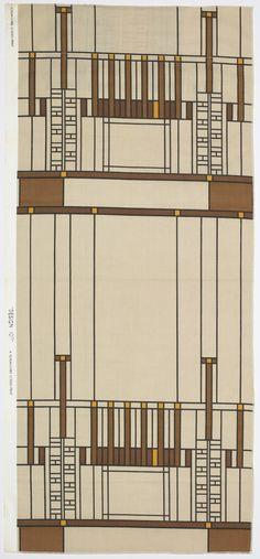 "Textile, Frank Lloyd Wright, ""Design 107, Taliesin Line"", 1957"