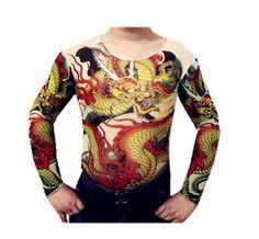 Tattoo Shirt Mesh Sleeves Temorary Arm Body Art Sport T Shirt Dragon St 08…