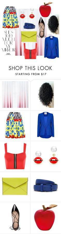 """Snow White"" by lokitty-winter ❤ liked on Polyvore featuring Versace, WearAll, Rebecca Minkoff, Lacoste, Kate Spade, Rika and Daum"