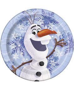 Disney's Olaf Winter Scene Dessert Plates | Party Quackers