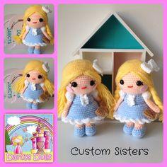 Custom crochet dolls by Darcy's Dolls www.facebook.com/Darcysdolls