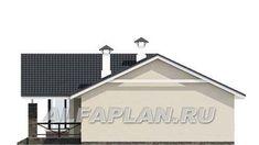 """🏠 """"Яркий мир"""" - одноэтажный дом с высокой гостиной и просторной террасой: цены, планировка, фото. Купить готовый проект House Plans, Shed, Floor Plans, Layout, Outdoor Structures, House Design, How To Plan, House Styles, Outdoor Decor"""