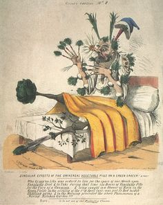 """""""Singular Effects of the Universal Vegetable Pills on a Green Crocer! A Fact!"""", 1841, by Charles Jameson Grant"""