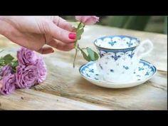 Xícara de chá + minirrosas = arranjo de flores personalizado. Aprenda a fazer! - YouTube