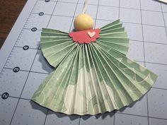 Krafting with Karen: Folded Angel Tutorial http://www.kraftingwithkaren.blogspot.com/2012/11/folded-angel-tutorial.html