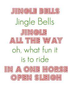 Christmas Printable:  Jingle Bells... by kristensjunkdrawer.blogspot.com