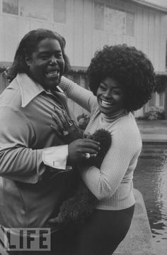 Composer and singer-songwriter Barry White and his wife, singer Glodean White.