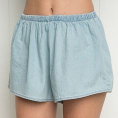 Denim remi shorts NWT denim blue remi shorts. New with tags.  -trades only for posted ISOs. My iso page can be found near the top of my closet. DO NOT ASK TO TRADE IF YOU DO NOT HAVE ONE OF MY ISOS. Brandy Melville Shorts