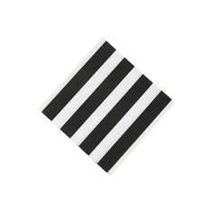 Black & White Striped Beverage Napkins - OrientalTrading.com