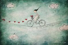 """""""In the pursuit of happiness"""" Fine Art Print by Amanda Cass Art And Illustration, Illustrator, Art Fantaisiste, Art Carte, Pursuit Of Happiness, Happiness Quotes, Canvas Prints, Art Prints, Heart Art"""