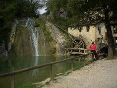 Working water powered mill in Treviso Province visited by the Sarasota Sister Cities delegation in September 2010
