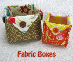 Fabric Boxes with French seams at Freemotion by the River