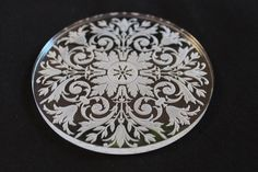 Acrylic engraved Laser cut coasters set of 6 by InvenioCrafts, €16.00