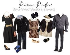 """FAMILY PHOTOS: """"What to Wear"""" Savvy Styled Sessions & Events: Style Inspiration - Classic look, Family Portraits"""