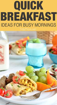 Breakfast is most important meal ofthe day. Yet, waking up is hard enough and the morning is often the busiest part of the day. So lets make breakfast easy with 5 of the most delicious QUICK BREAKFAST IDEAS AND RECIPES that will make you want to jump out of bed and get your day started! QUICK BREAKFAST IDEAS AND RECIPES at TidyMom.net