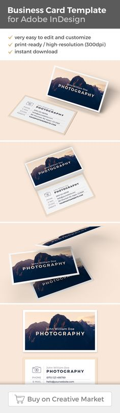 Modern Business Card Template for Photographers