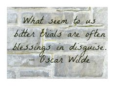 Oscar Wilde, The Importance of Being Earnest Letters from your sister