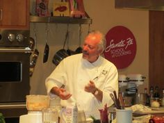 Chef John Rivera Sedlar makes time in his busy schedule to teach a class at the School!