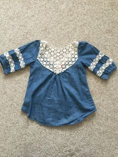 Check out this listing on Kidizen: Lace Chambray Top via @kidizen #shopkidizen