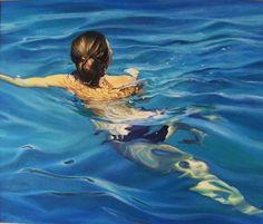 "Saatchi Art Artist Ivora Dajic; Painting, ""The Swimmer"" #art"
