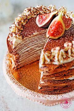 czekoladowe naleśniki z kremem z bitej śmietany Grapefruit, Tiramisu, Sweets, Ethnic Recipes, Sweet Pastries, Goodies, Candy, Tiramisu Cake, Treats