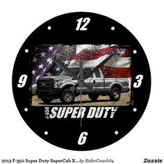 2013 F-350 Super Duty SuperCab XL 4x4 Large Clock