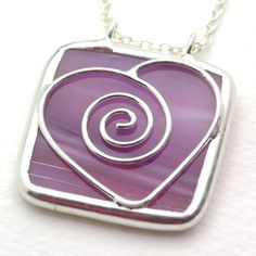 Stained glass pendants fused glass pinterest glass pendants purple sweetheart stained glass pendant aloadofball Gallery
