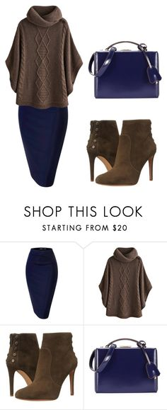"""Super Simple: Brown and Blue"" by aowens99 ❤ liked on Polyvore featuring Joules, Vince Camuto and Mark Cross"