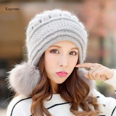 Kagenmo Fashion Outdoor Warm Rabbit Women Hat Thick Fur Lady Bomber Hat Ear  Protection Breathable Winter Cap Knitting now available on Affordable ... 1c75f9f4e05b