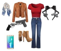 """Girls love their Guns"" by momo-free on Polyvore featuring Levi's, JustFabulous, Revolver and Humble Chic"