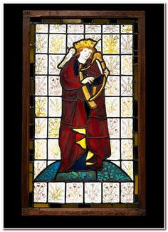 King David the Poet Designer: Sir Edward Burne-Jones (British, Birmingham 1833–1898 Fulham ) (figure) Designer: William Morris (British, Walthamstow, London 1834–1896 Hammersmith, London) (background) Manufactory: Morris, Marshall, Faulkner & Co. Date: 1863 Culture: British, London Medium: Stained glass Dimensions: 32-1/2 x 19-1/2 (82.6 x 49.5 cm)