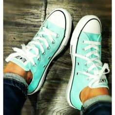 All Star Converse Turquoise Perfect condition!! No stains! Missing original laces. all star Shoes