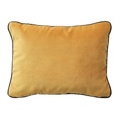 IKEA - SAGALIE, Cushion cover, velvet yellow, The zipper makes the cover easy to remove. Cushions Ikea, Modern Cushions, Black Cushions, Velvet Cushions, Cushion Covers Uk, Cushion Pads, Day Room, Ikea Inspiration