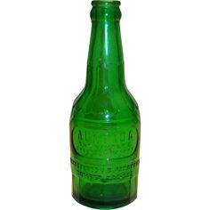 Vintage Aunt Ida Green Soda Bottle - 1960's from theantiquechasers on Ruby Lane
