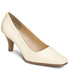 Envy Dress Leather Pump   Women's Mid Heel Career Shoes   Aerosoles