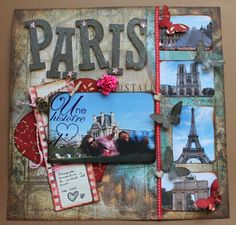 Image result for paris scrapbook layouts