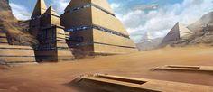 egypt desert buildings concept art - Google Search