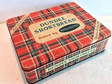 Vintage Biscuit Tin; Brockhoff Dundee Shortbread Christmas Greetings 1957 (2865)