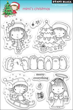 "Penny Black Clear Stamp 5"" X 7.5"" Sheet - Mimi's Christmas $12.74"