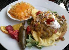 Huevos Rancheros and a side of mac. Perfect brunch.
